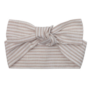 Linen Headband - Oatmeal Stripe