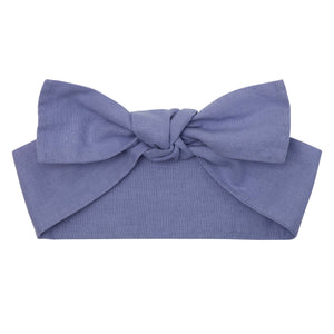 Linen Headband - Pacific Blue