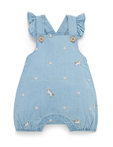 Chambray Short Overall