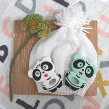 Load image into Gallery viewer, Jellies Panda Teether - Mint