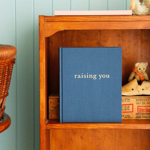 'Raising You' Letters To My Baby - Navy