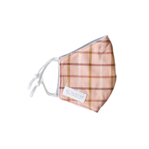 3-Layer Face Mask - Pink Plaid