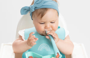 Silicone Baby Utensils - First Tensils (2-Pack - Blue & Aqua)