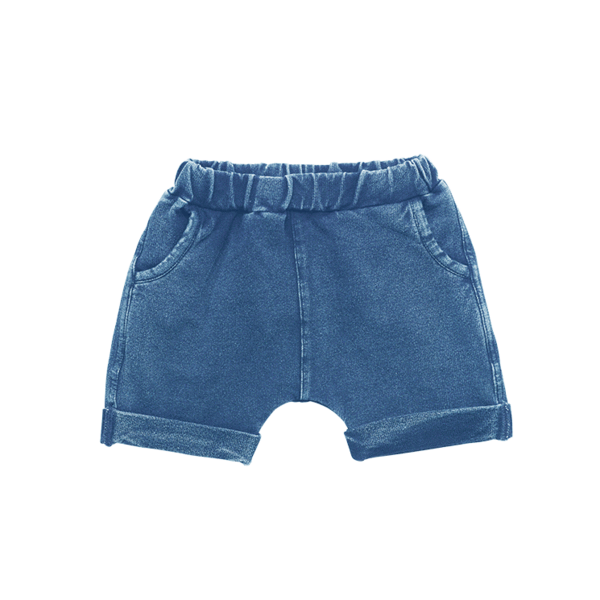 Denim Blue Smash Shorts