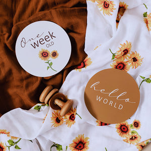 Reversible Milestone Cards - Sunflower & Bronze