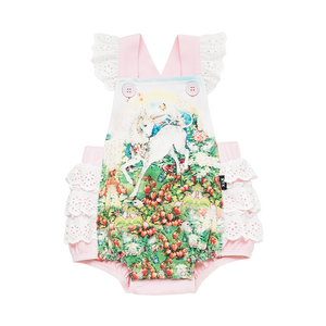 Unicorn Garden Romper with Lace