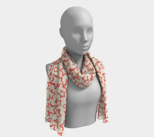 ANNU - RED STAR SCARF