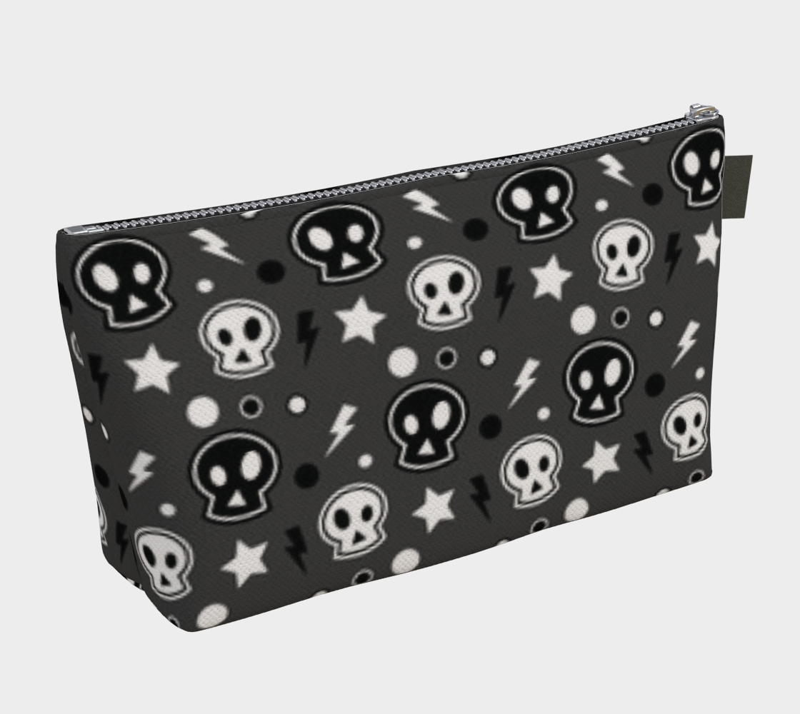 ANNU SKULLS AND BOLTS MAKE-UP BAG