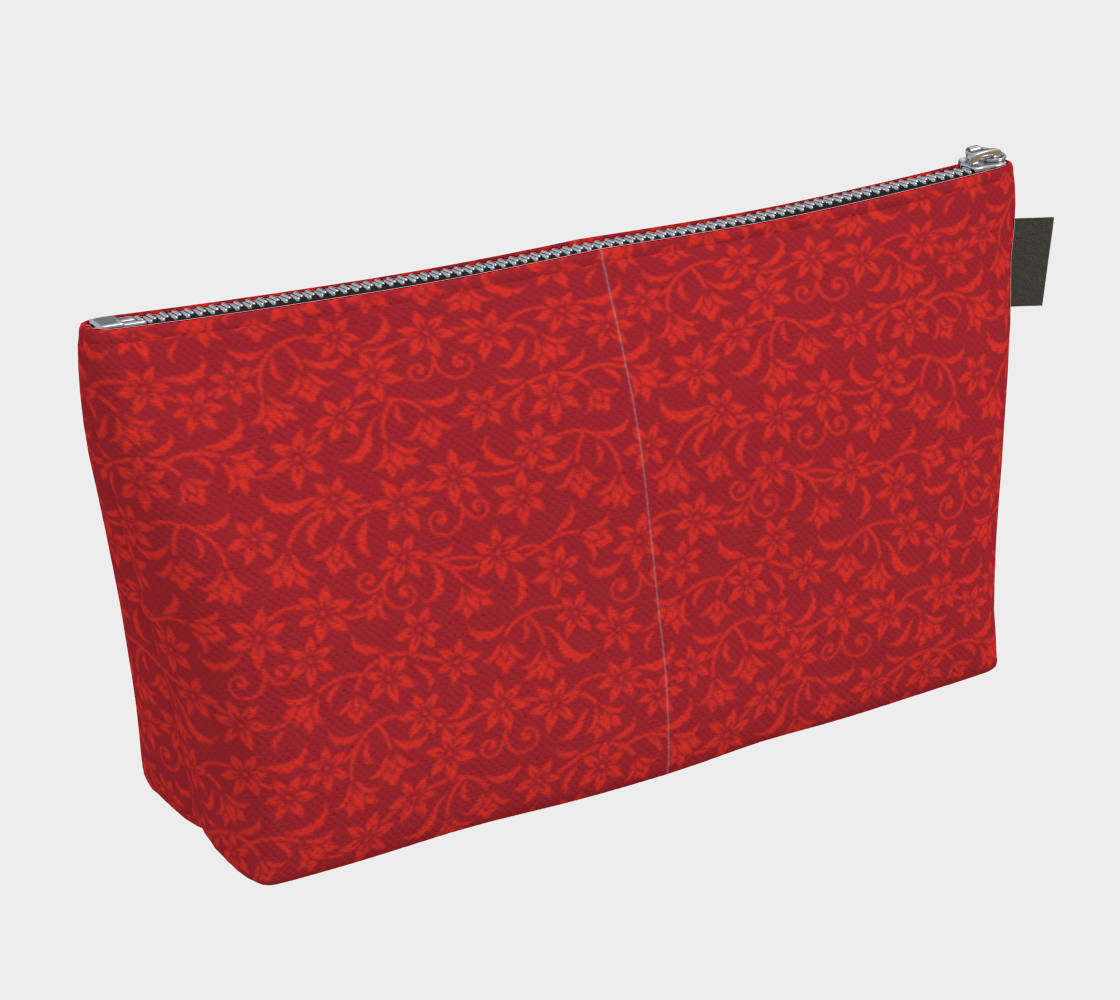ANNU RED MATRIX FLOWER MAKE UP BAG