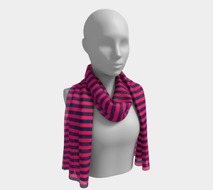 ANNU PINK MATRIX VERTICAL SCARF