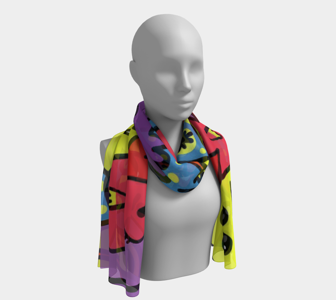 ANNU CARTOON PARTY SCARF