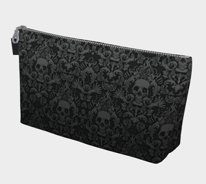 ANNU BLACK MATRIX SKULL MAKE-UP BAG