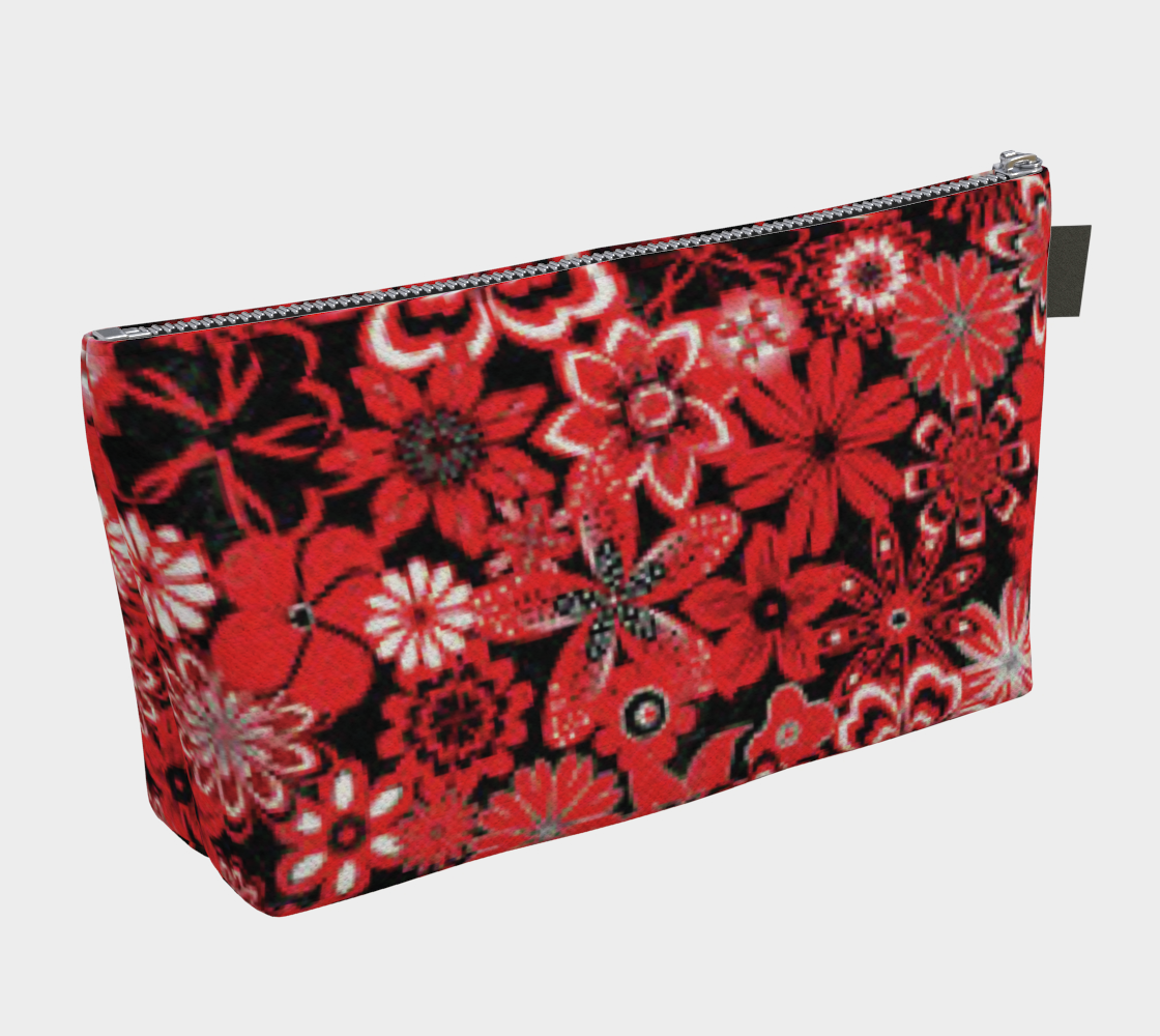 ANNU RED MATRIX FLOWER MAKE-UP BAG