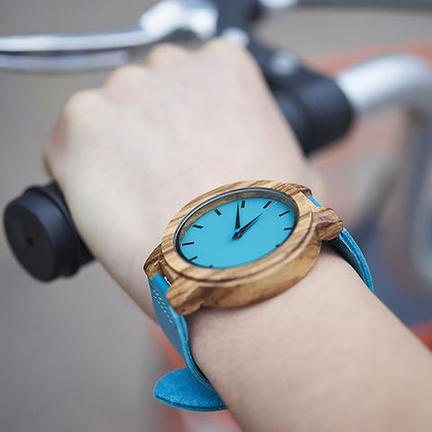 ANNU JEWLERY Bambu Blue Watch