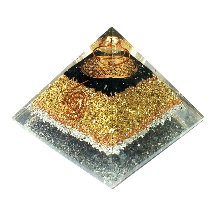 Black Tourmulie Copper Orgone Pyramid