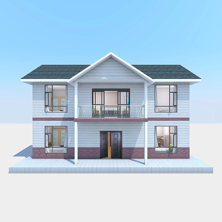 ANNU HOMES - Wooden Bungalow 4 Bedroom 3 Bath Prefab House (1956.4 SQF)