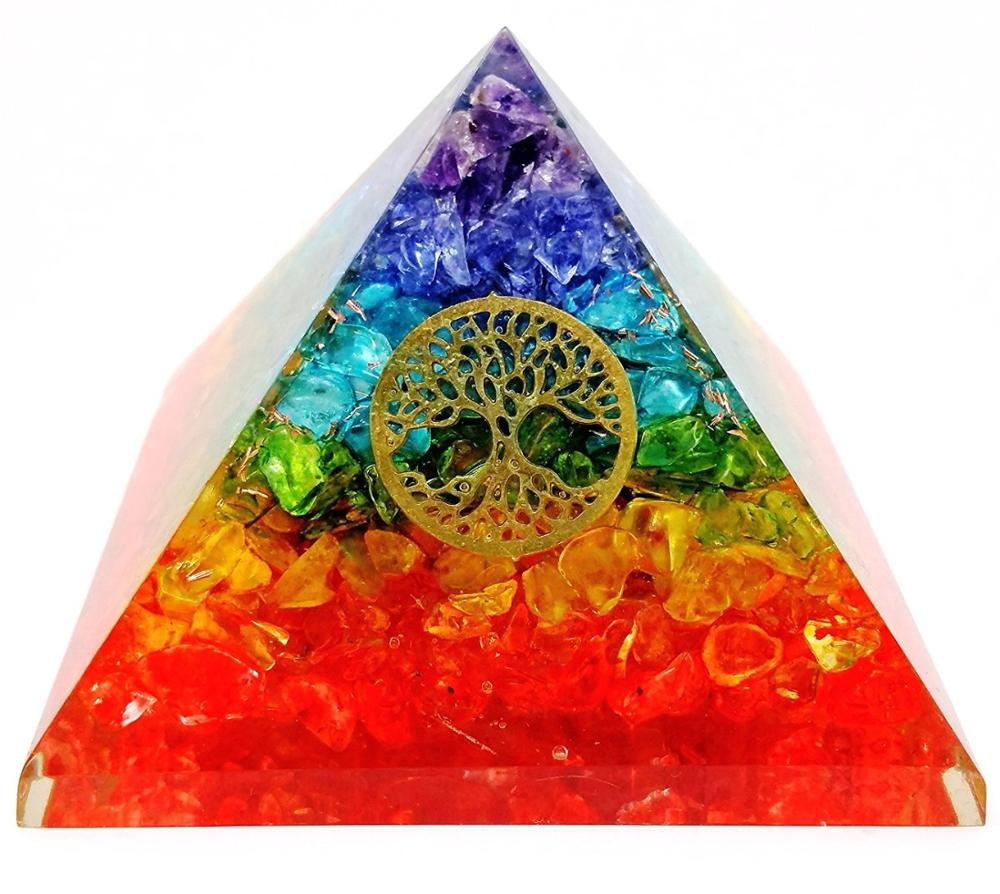 Seven Chakra Layer Life Of Tree Orgone Pyramid