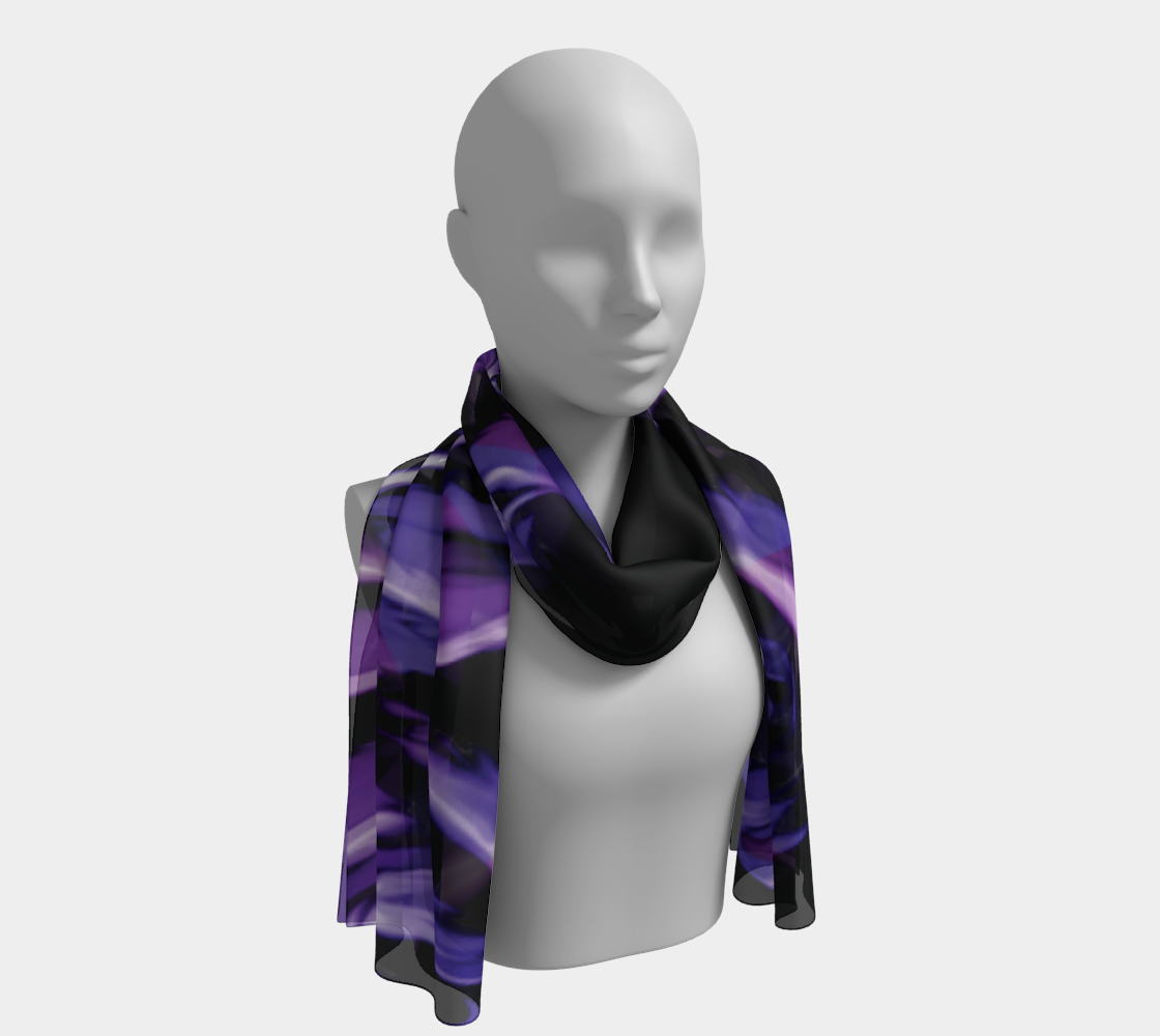 ANNU PURPLE ROSE WASH SCARF