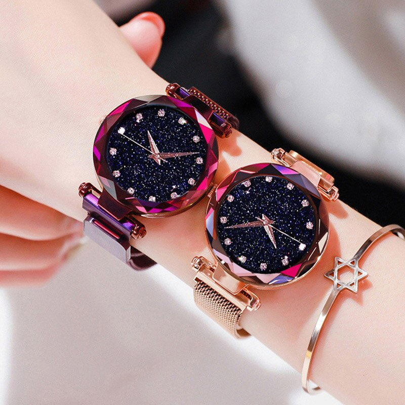 ANNU JEWLERY Luxury Diamond Rose Gold Women Watches