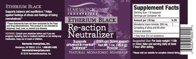Etherium Black 1oz Mineral Essence Spray
