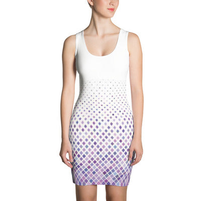 ANNU (Purple Matrix) Sublimation Cut & Sew Dress