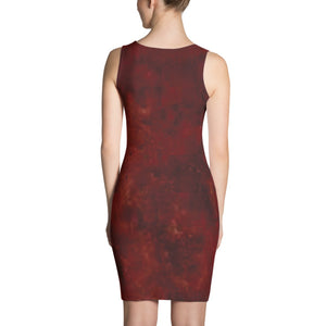 ANNU Red Matrix Series Sublimation Cut & Sew Dress
