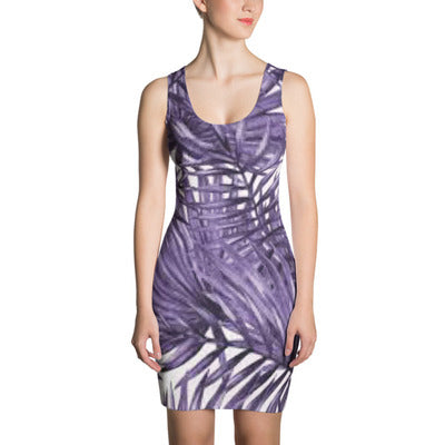 ANNU (Purple Palms) Sublimation Cut & Sew Dress