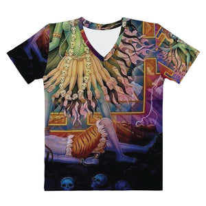 ANNU - SHIVA (GREENCHILD) All Over Print Women's V-neck