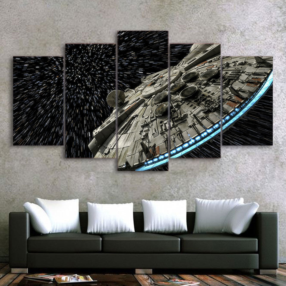 Star War Destroyer Millennium Falcon Living Room HD Printed Painting Frame