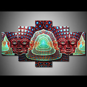 Living Room HD Printed Modular Canvas Poster 5 Panel Tool Alex Grey Graphical Framework Wall Art Painting Home Decor Pictures