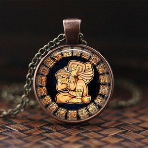 Egyptian Glass Dome Pendants Necklace Ancient Assorted