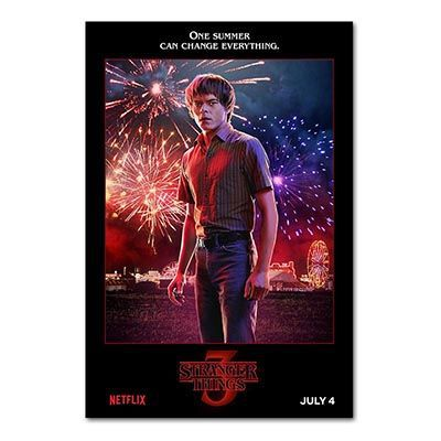 Stranger Things Season 3 Posters TV Movie Silk Cloth Prints Picture For Living Room Bedroom Decors