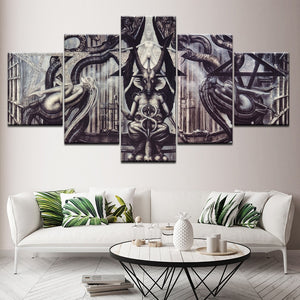 5 Panel Sexy Alien Totem Posters Fashion Painting Home Decor Pictures Framework