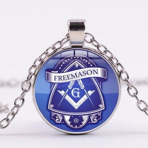 aSSORTED Illuminati Pyramid Eye Necklace Masonic Freemasonry Compass G Symbol Glass Dome Pendants Classic Chain Necklaces