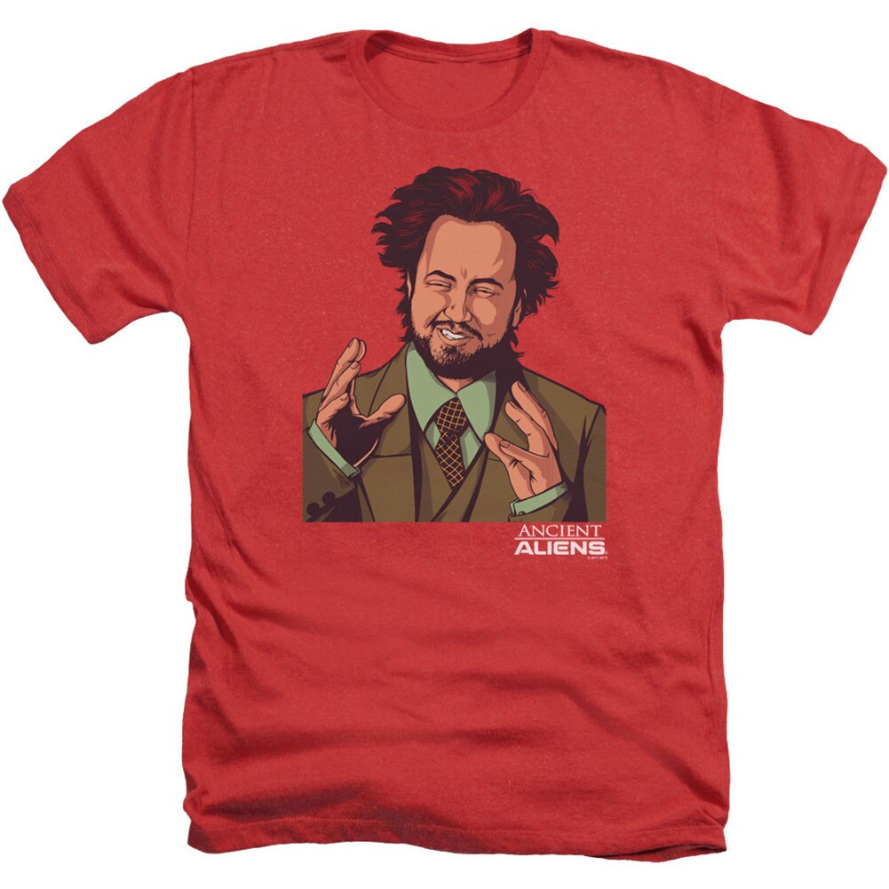 EMG - Ancient Aliens Adult Heather 40% Poly T-Shirt
