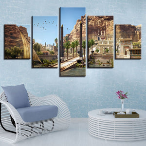 Egyptian Architecture Painting Pictures Home Wall Art Decor