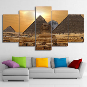 Egyptian Pyramids Sunset Scenery Picture