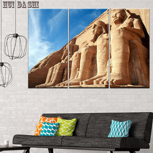 Egyptian Temple Painting Canvas Print Painting