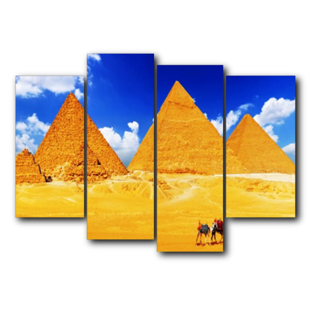 Laeacco Egyptian Pyramids Canvas Prints Painting No Frame