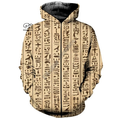 PLstar Cosmos Horus Egyptian God Egyptian Symbol Pharaoh Anubis Tracksuit 3DPrint Zipper/Hoodies/Sweatshirt/Jacket/Men/Women s20