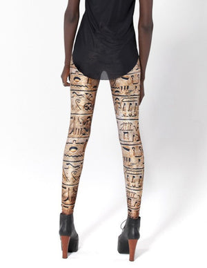 Ancient Egypt Hiero Leggings Slim Fit Thin Elastic Polyester