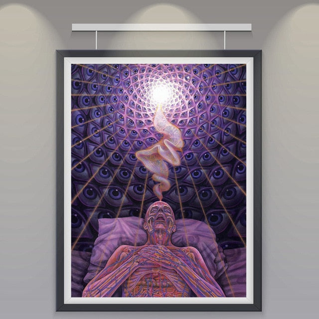 Alex Grey Psychedelic Silk Poster Print Abstract Painting Art Pictures