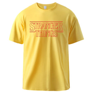 Stranger Things T shirt Man Summer Cotton Short Sleeve T shirts Male Casual Tee 2020 Man High Quality Sportswear Tracksuit Tee