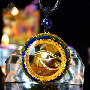 EYE OF RA- Orgonite Magnetic Field Energy Converter Necklace