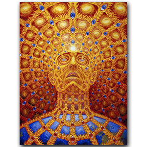 Alex Grey Oversoul TOOL Psychedelic Silk Fabric Poster