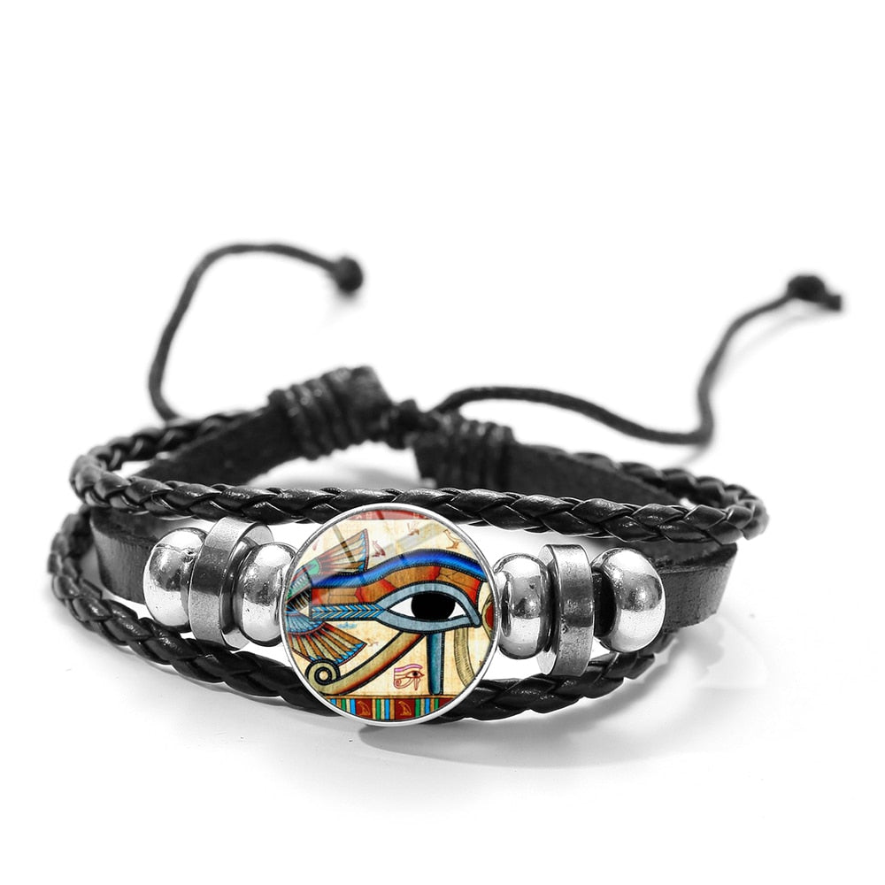 ANNU JEWLERY Horus Eye Bracelet Retro Gold Wedjat Eye