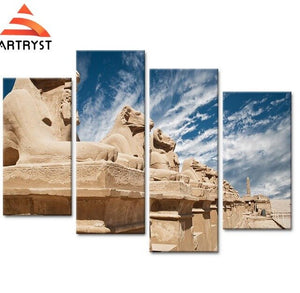 Egyptian Sculpture Landscape Picture Painting On Canvas Painting For Living Room