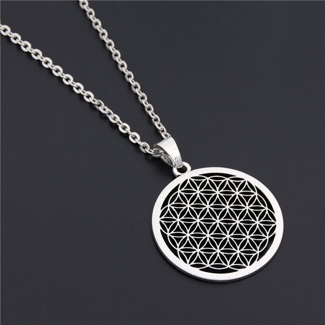 Seed Of Life Pendant Flower Of Life Necklace  Jewelry Sacred Geometry Women Accessories Birthday Gift