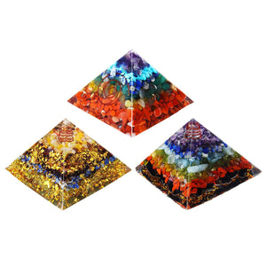 24 Style Orgone Energy Converter Orgonite Pyramid Soothe The Soul Stone That Change The Magnetic Field Of Life Resin Jewelry