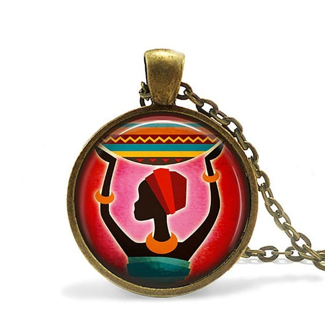 2019 Eye of Horus Egyptian Necklace Pendant Ankh Eternal Life Symbol Glass Cabochon Religion Art Jewelry for Men Women